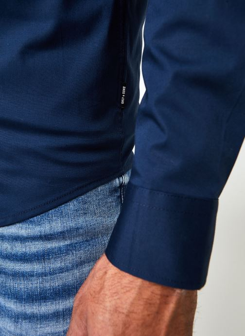 Vêtements Only & Sons Onsbart Life Organic Shirt Bleu vue face