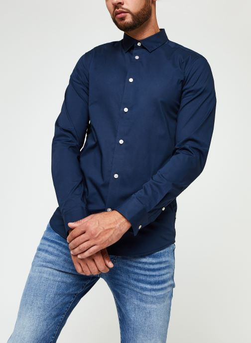 Vêtements Only & Sons Onsbart Life Organic Shirt Bleu vue droite