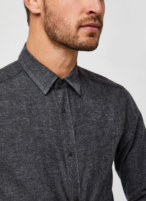 Vêtements Only & Sons Onsbrad Herringbone Shirt Gris vue face