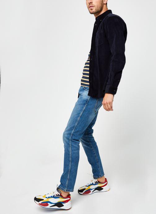 Vêtements Only & Sons Onsbennet Corduroy Shirt Bleu vue bas / vue portée sac