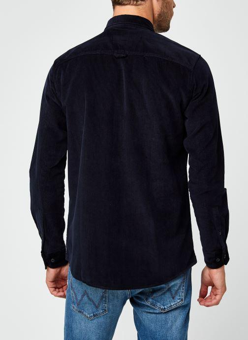 Vêtements Only & Sons Onsbennet Corduroy Shirt Bleu vue portées chaussures