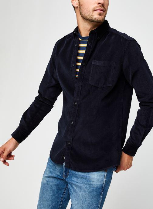 Vêtements Only & Sons Onsbennet Corduroy Shirt Bleu vue détail/paire