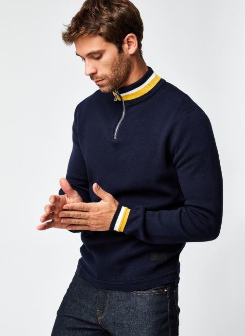 Vêtements Only & Sons Onsrobbie Half Zip Knit Bleu vue détail/paire
