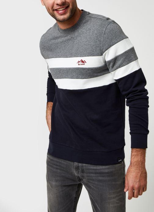 Vêtements Only & Sons Onsdamas Life Crew Neck Bleu vue détail/paire