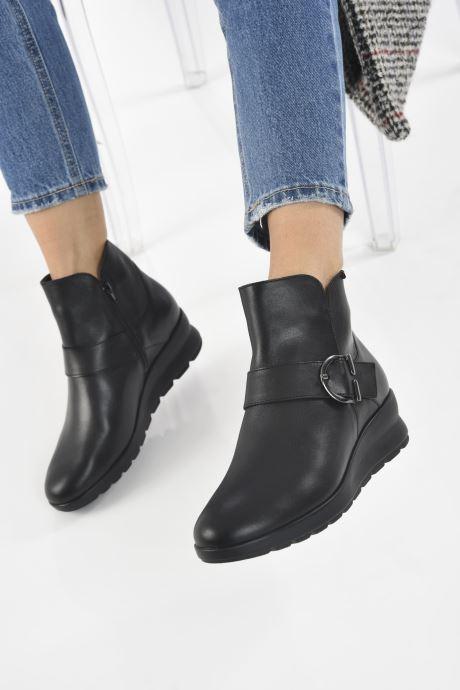 Bottines et boots Mephisto PAULEEN Noir vue bas / vue portée sac
