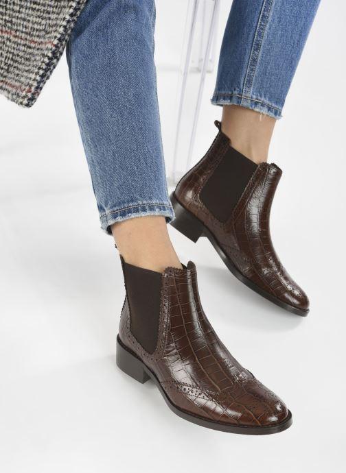 Stiefeletten & Boots COSMOPARIS FLORENCIA braun ansicht von unten / tasche getragen
