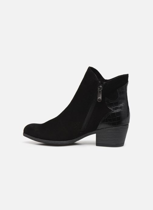 Boots en enkellaarsjes Marco Tozzi Adya Zwart voorkant