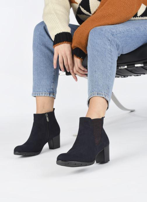 Bottines et boots Marco Tozzi Kiara Bleu vue bas / vue portée sac