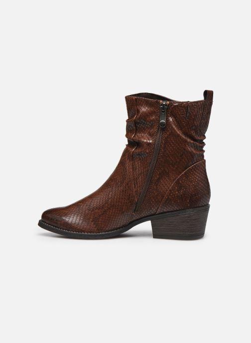 Boots en enkellaarsjes Marco Tozzi Liona Bruin voorkant