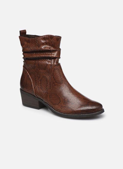Boots en enkellaarsjes Marco Tozzi Liona Bruin detail