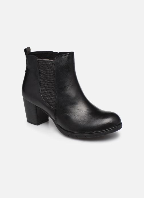 Boots en enkellaarsjes Marco Tozzi Yukila Zwart detail