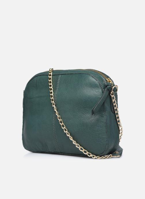 Handtaschen Pieces ROSITA LEATHER CROSSBODY grün ansicht von rechts