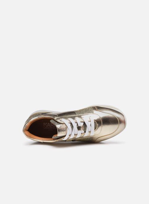 Sneaker Karl Lagerfeld Z19042 gold/bronze ansicht von links