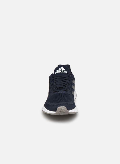 Chaussures de sport adidas performance Duramo Sl Bleu vue portées chaussures