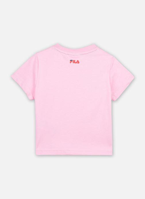 Vêtements FILA LEA classic logo tee Rose vue portées chaussures