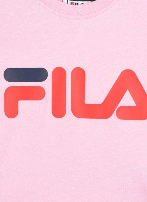 Vêtements FILA LEA classic logo tee Rose vue face