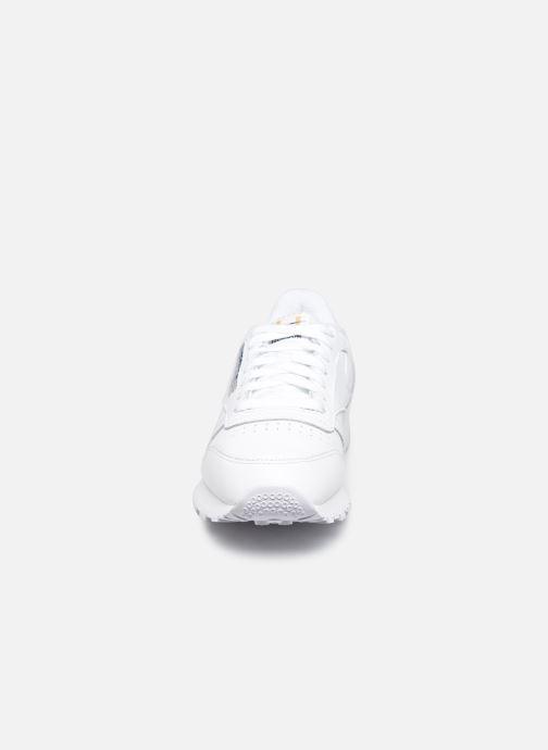 Sneakers Reebok Cl Leather Mu W Bianco modello indossato