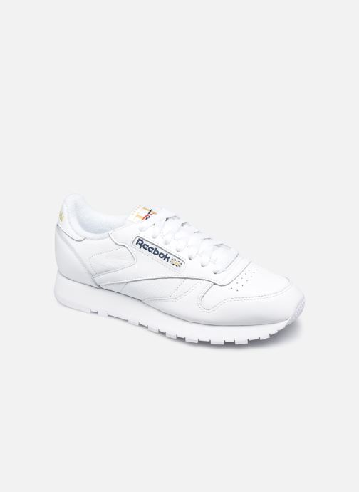 Deportivas Reebok Cl Leather Mu W Blanco vista de detalle / par