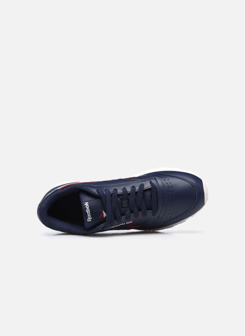 Sneaker Reebok Cl Lthr M blau ansicht von links