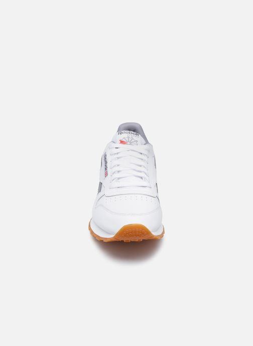 Baskets Reebok Cl Lthr M Blanc vue portées chaussures
