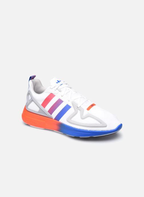 Baskets adidas originals Zx 2K Flux Gris vue détail/paire