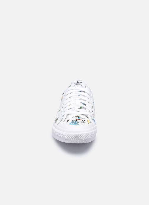 Sneaker adidas originals Nizza X Disney Sport Goofy weiß schuhe getragen