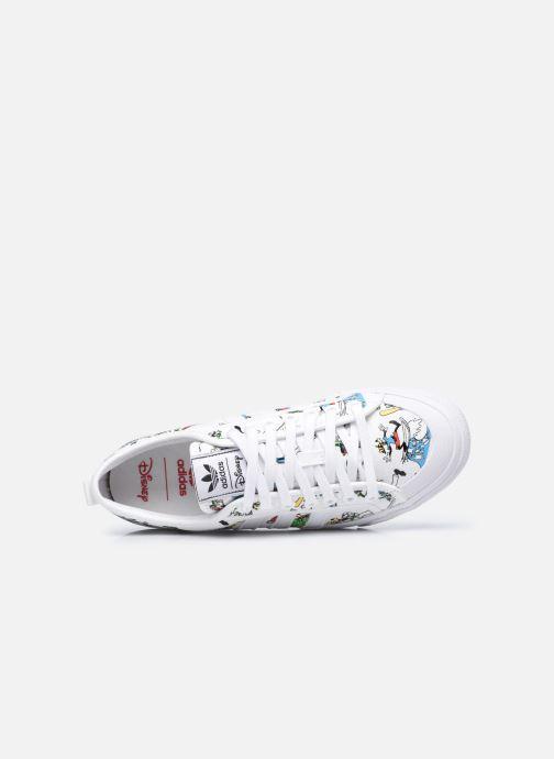 Sneaker adidas originals Nizza X Disney Sport Goofy weiß ansicht von links