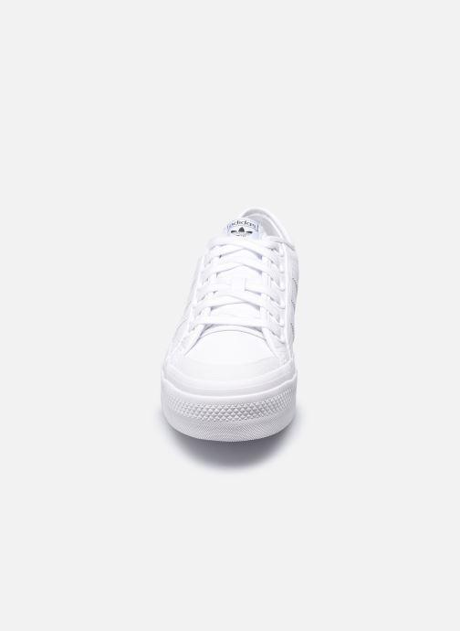 Sneaker adidas originals Nizza Plateform weiß schuhe getragen
