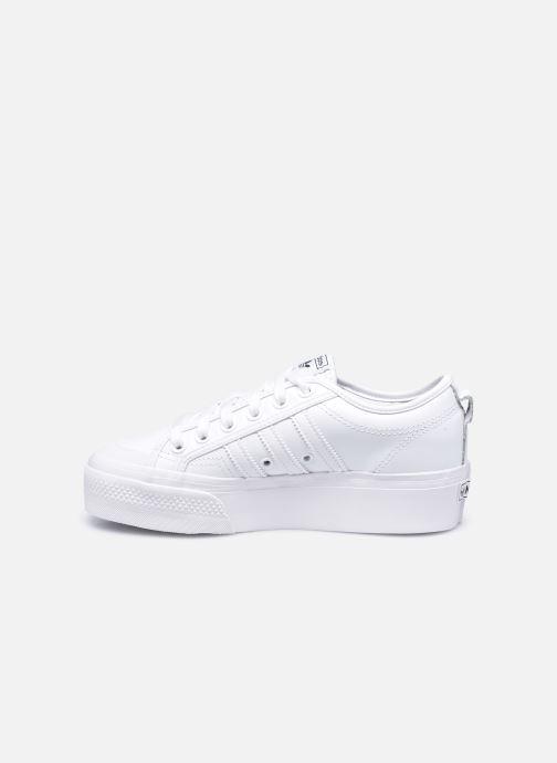 Sneaker adidas originals Nizza Plateform weiß ansicht von vorne