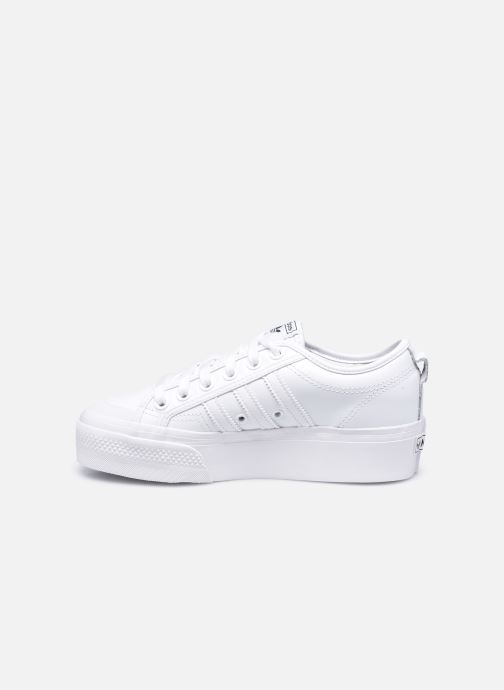 Baskets adidas originals Nizza Plateform Blanc vue face