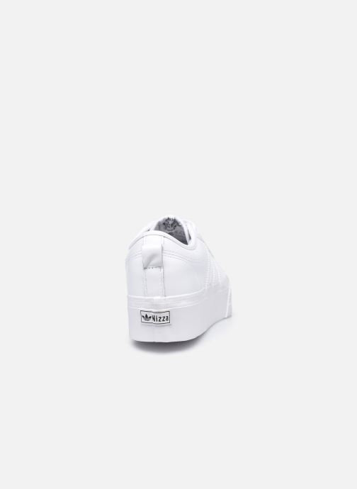 Baskets adidas originals Nizza Plateform Blanc vue droite