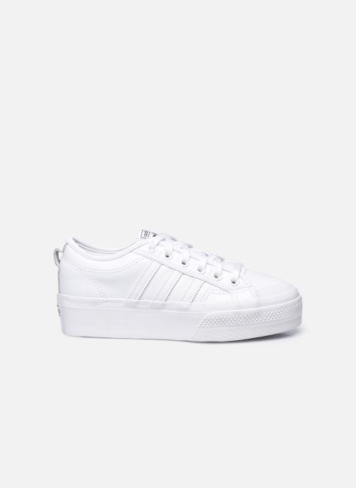 Sneaker adidas originals Nizza Plateform weiß ansicht von hinten