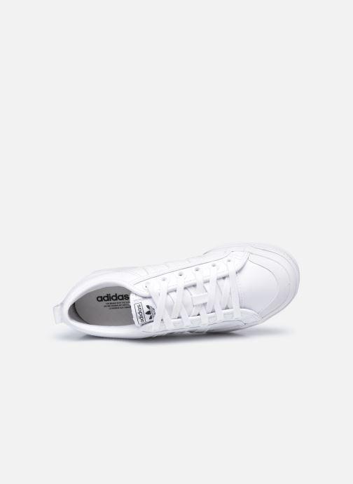 Sneaker adidas originals Nizza Plateform weiß ansicht von links