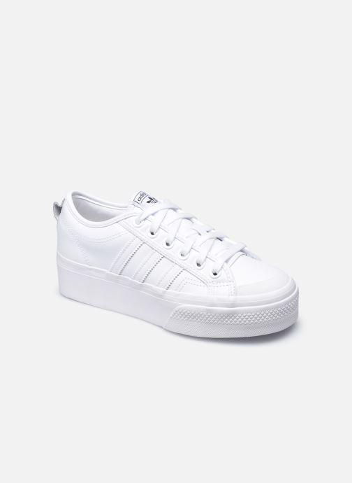 Baskets adidas originals Nizza Plateform Blanc vue détail/paire