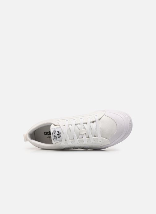 Sneaker adidas originals Nizza Plateform weiß ansicht von links