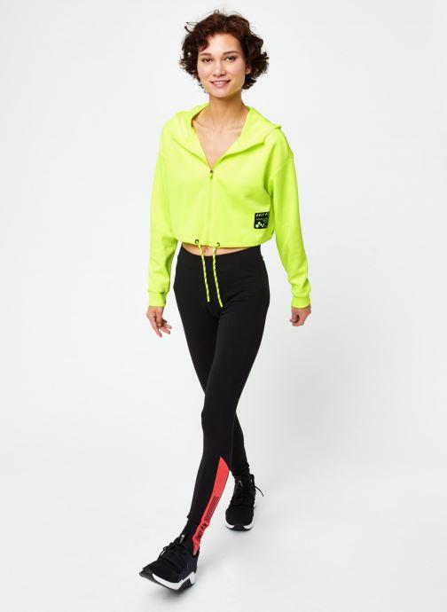 Vêtements Only Play Onpjudie Ls Cropped Zip Hood Sweat Jaune vue bas / vue portée sac