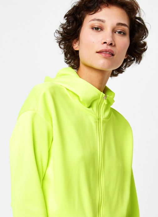 Vêtements Only Play Onpjudie Ls Cropped Zip Hood Sweat Jaune vue face
