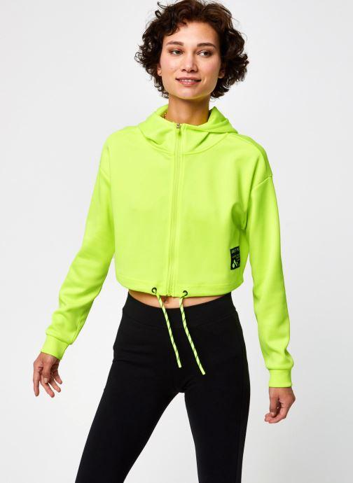 Vêtements Only Play Onpjudie Ls Cropped Zip Hood Sweat Jaune vue détail/paire