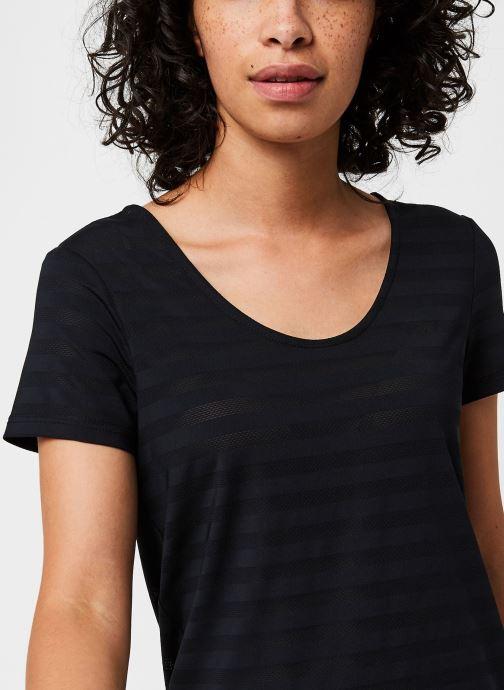 Vêtements Only Play Onpsue V-Neck Ss Training Tee Noir vue face