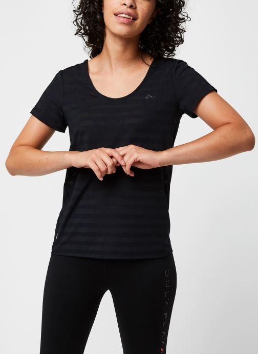 Vêtements Only Play Onpsue V-Neck Ss Training Tee Noir vue détail/paire