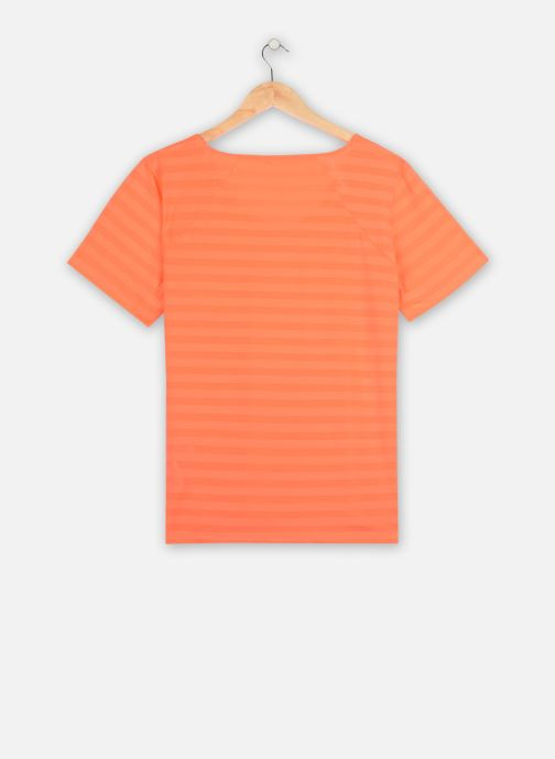Vêtements Only Play Onpsue V-Neck Ss Training Tee-Curvy Orange vue portées chaussures