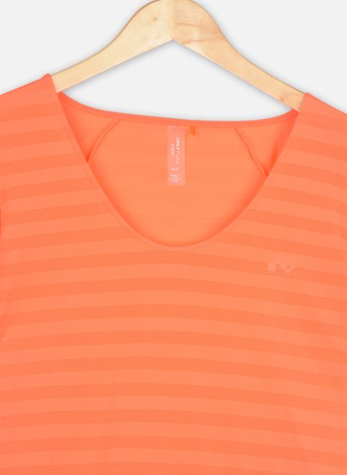 Vêtements Only Play Onpsue V-Neck Ss Training Tee-Curvy Orange vue face