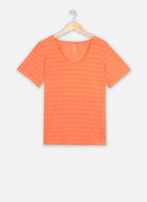 Vêtements Only Play Onpsue V-Neck Ss Training Tee-Curvy Orange vue détail/paire