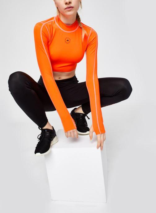 Vêtements adidas by Stella McCartney Tp Crop P.Blue Orange vue bas / vue portée sac