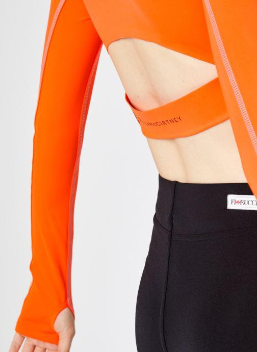 Vêtements adidas by Stella McCartney Tp Crop P.Blue Orange vue face