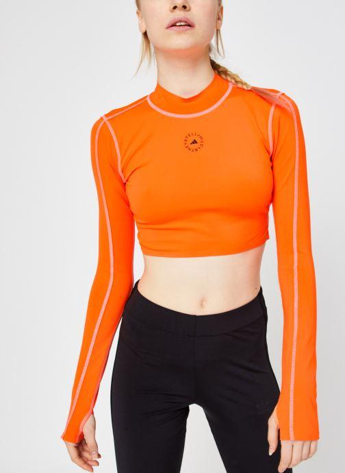 Vêtements adidas by Stella McCartney Tp Crop P.Blue Orange vue droite