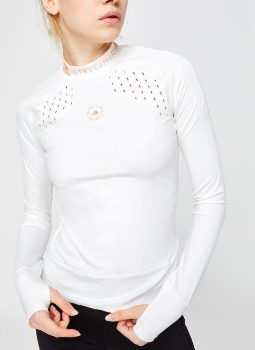 Vêtements adidas by Stella McCartney Truepur Ls Blanc vue droite