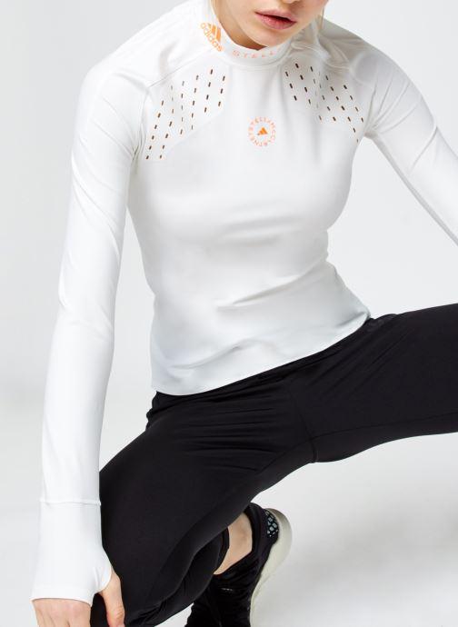 Vêtements adidas by Stella McCartney Truepur Ls Blanc vue détail/paire