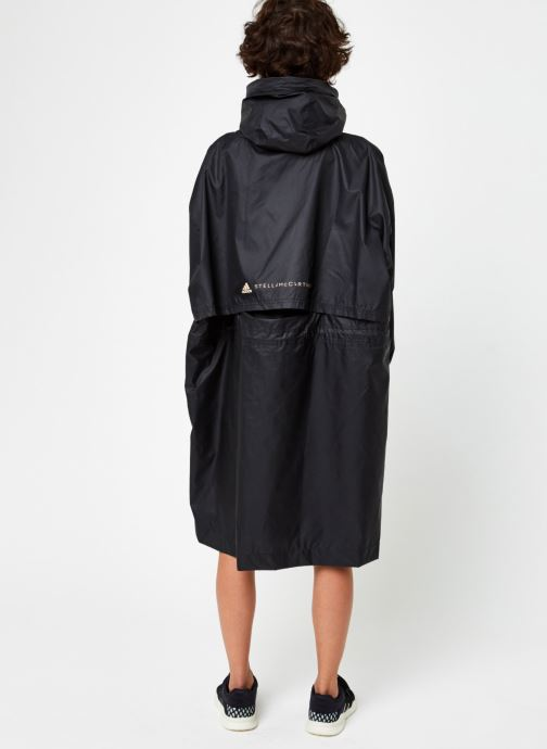 Vêtements adidas by Stella McCartney Long Parka W.R. Noir vue portées chaussures
