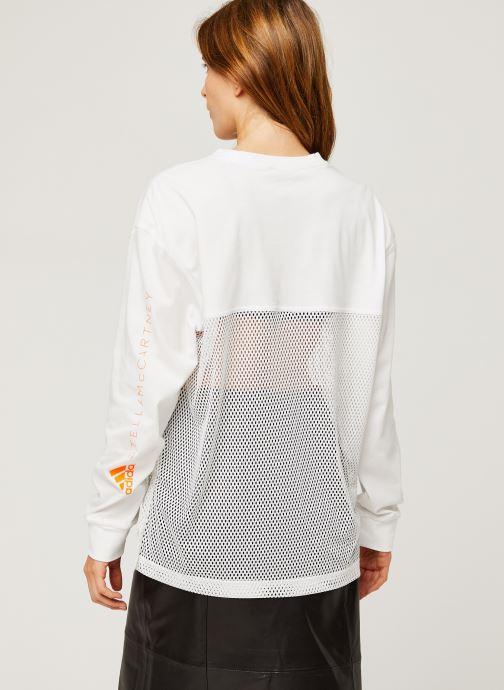 Vêtements adidas by Stella McCartney Longsleeve Top Blanc vue portées chaussures